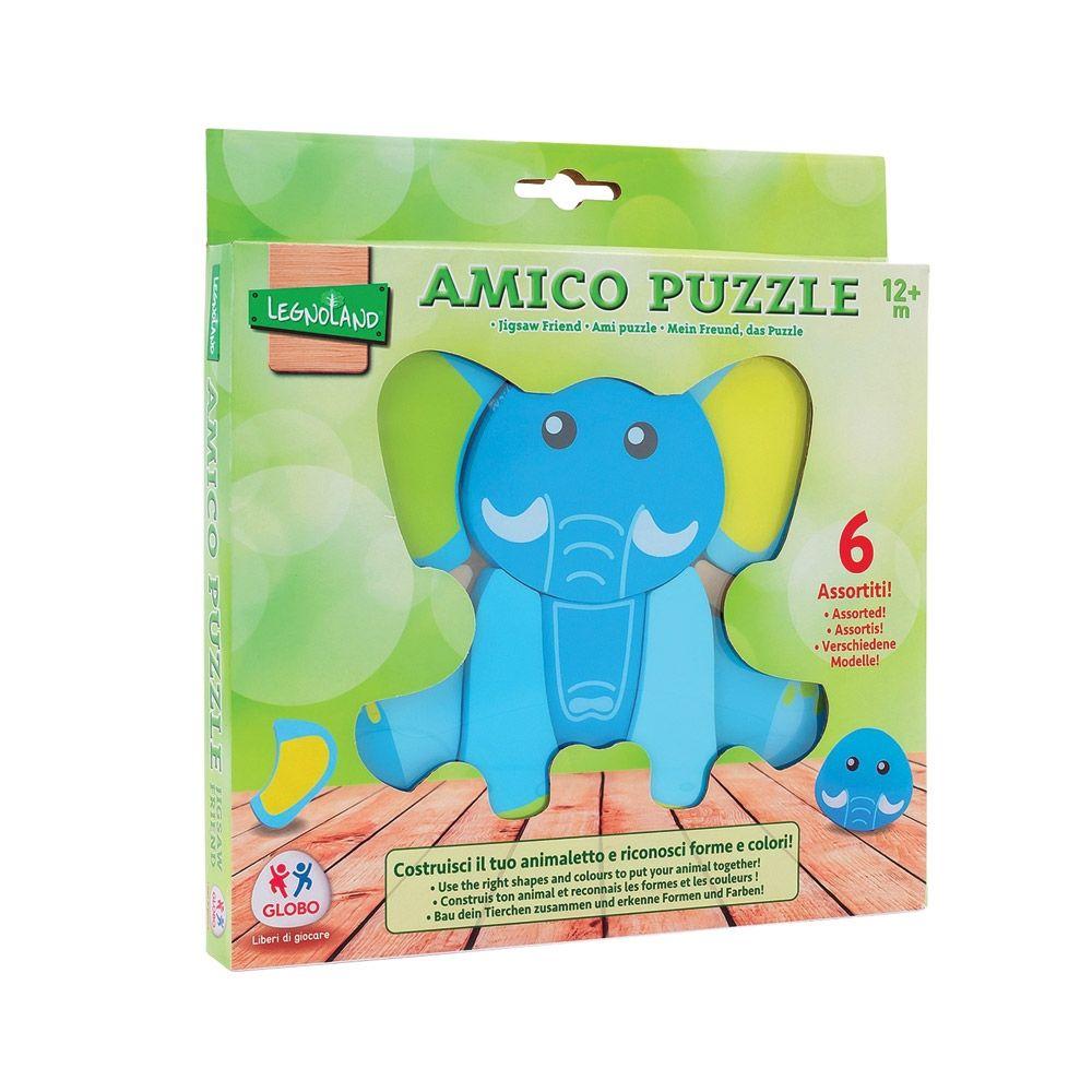 Puzzle din lemn cu diverse animale LEGNOLAND FRIEND imagine hippoland.ro