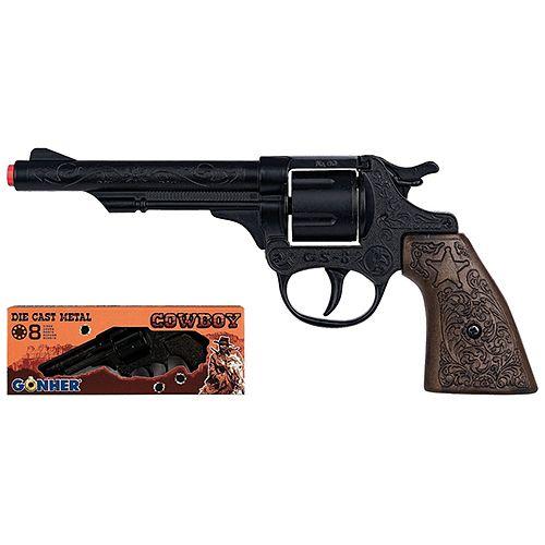 Revolver cowboy Gonher 8 focuri black imagine hippoland.ro