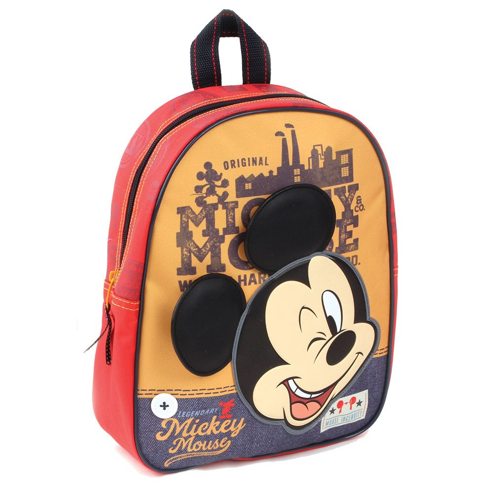 Rucsac cu urechi 3D Disney Mickey Mouse imagine hippoland.ro