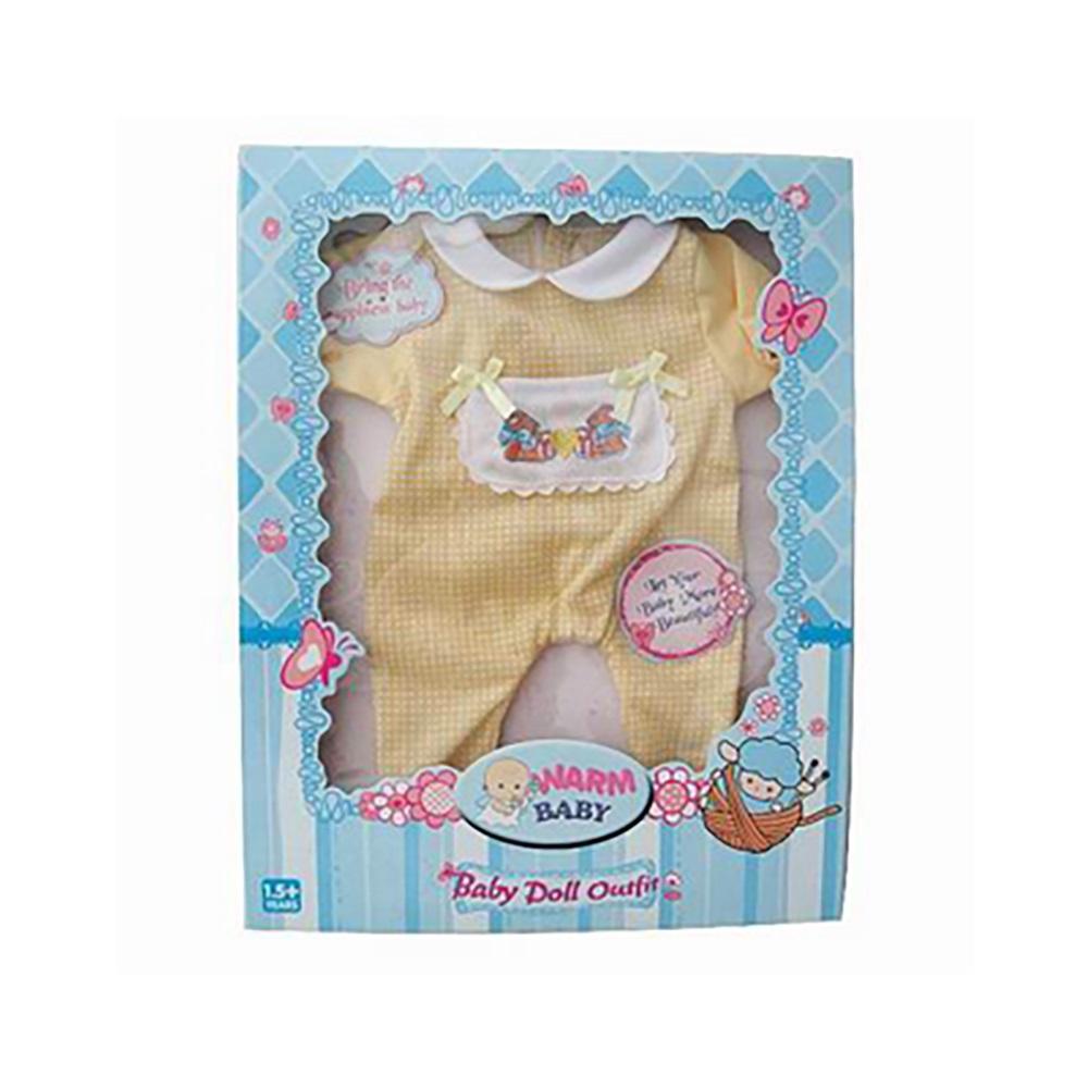 Salopeta cu ursuleti pentru papusi Warm Baby imagine hippoland.ro