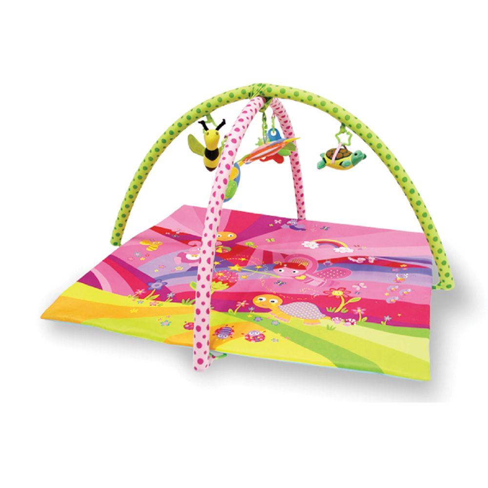 Saltea de activitati Lorelli Tale Pink 89 x 84 cm imagine hippoland.ro