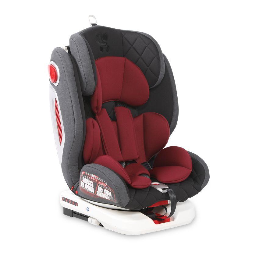 Scaun auto cu isofix Lorelli Roto 2020 black red 0-36 kg imagine hippoland.ro