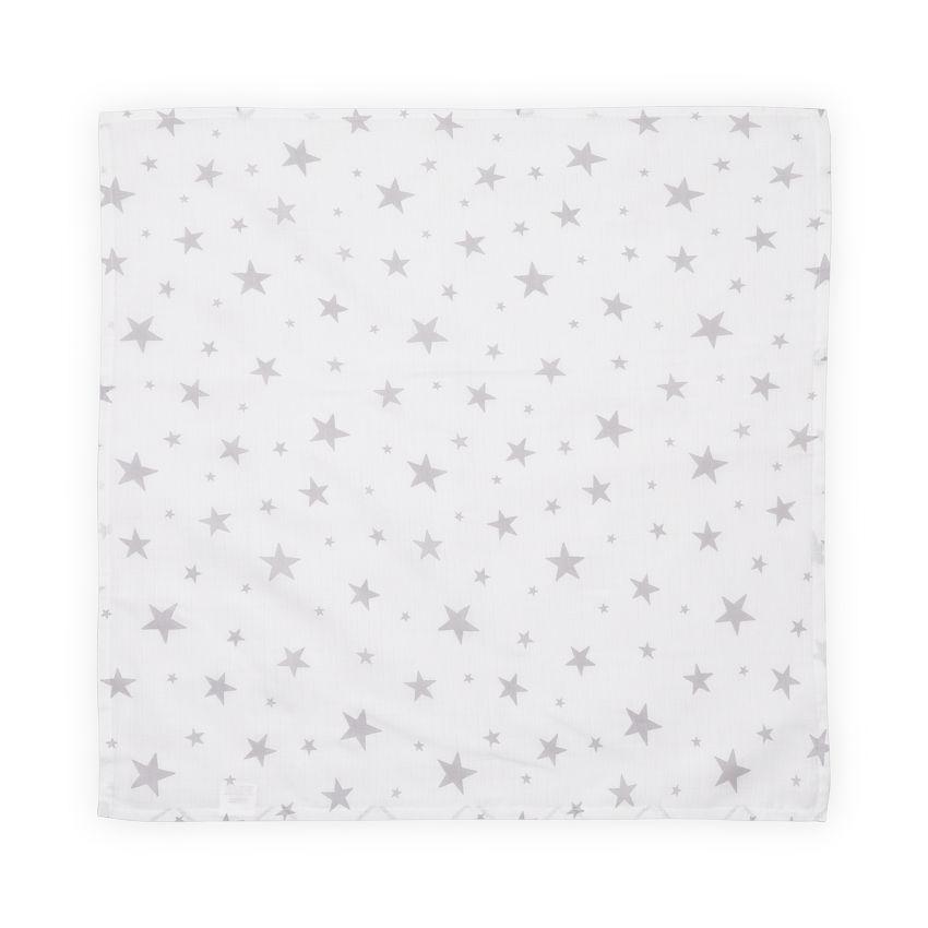 Scutec din bumbac Lorelli 80x80 cm grey stars imagine hippoland.ro