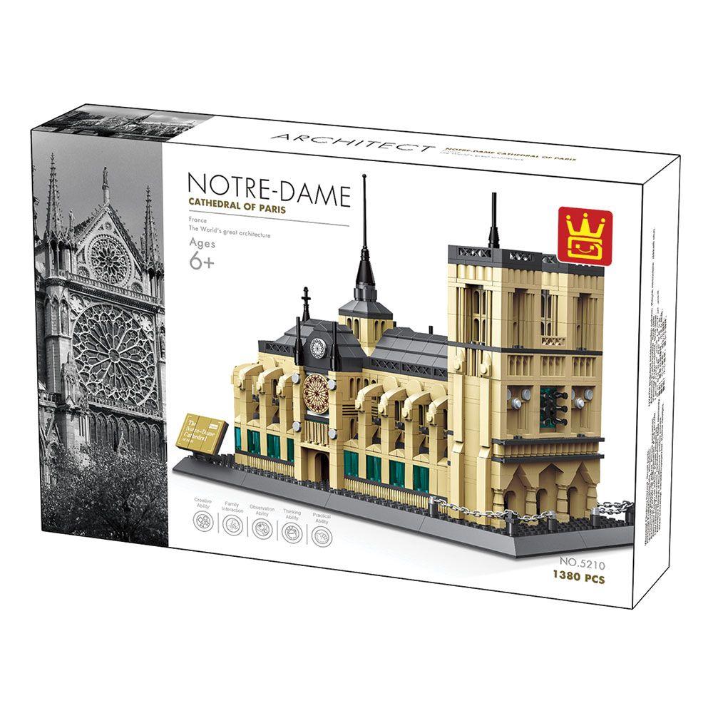 Set 1380 piese Wange Block Notre Dame