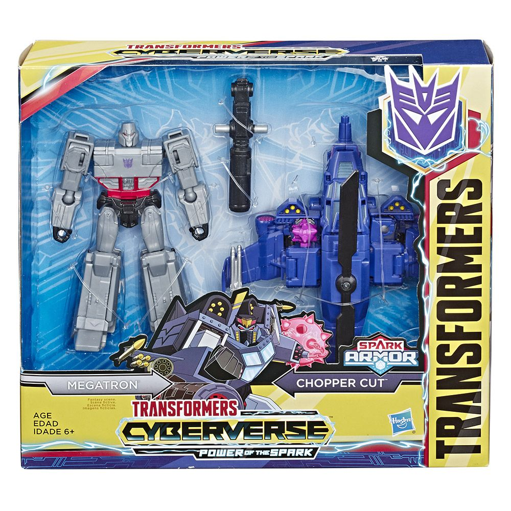 Set 2 figurine Hasbro Transformers Cyberverse Spark Armour Megatron imagine hippoland.ro
