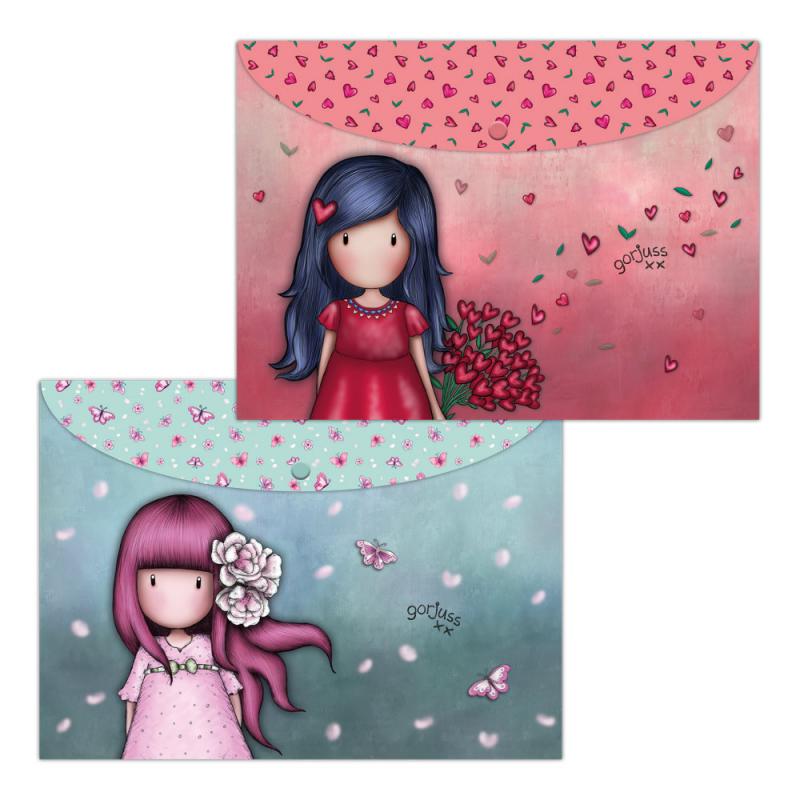 Set 2 mape A4 Gorjuss Cherry Blossum si Love Grows imagine hippoland.ro