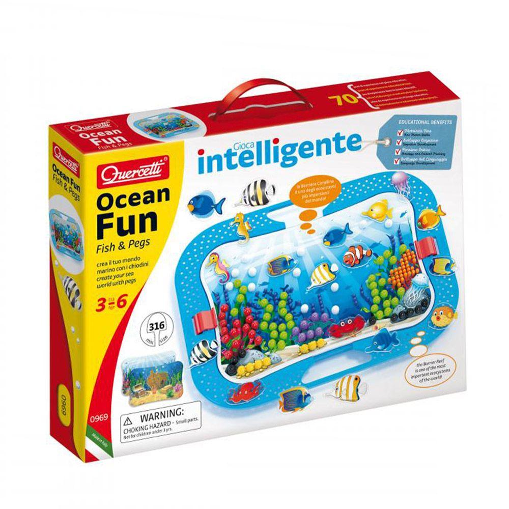 Set 316 piese Quercetti Mosaic Mix Ocean Fun 969 imagine hippoland.ro
