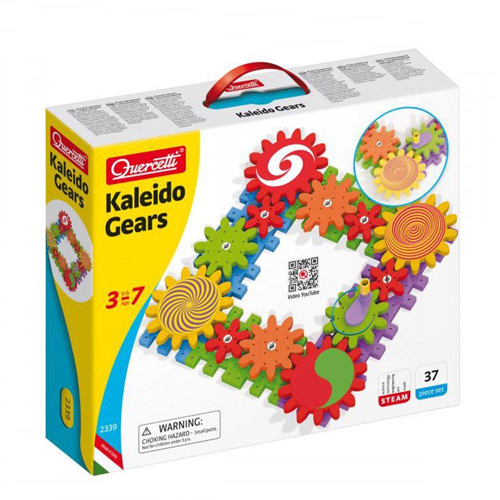 Set 37 piese Quercetti Kaleido Gears 2339 imagine hippoland.ro