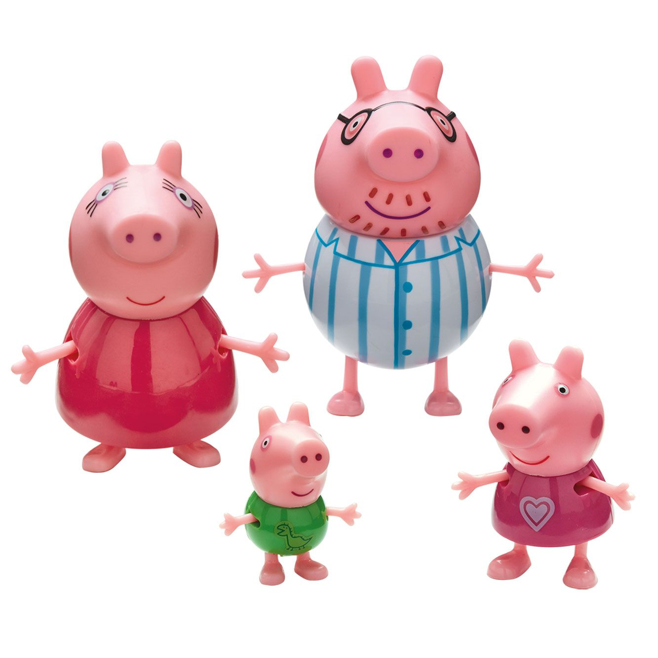 Set 4 figurine Peppa Pig Family Bedtime imagine hippoland.ro