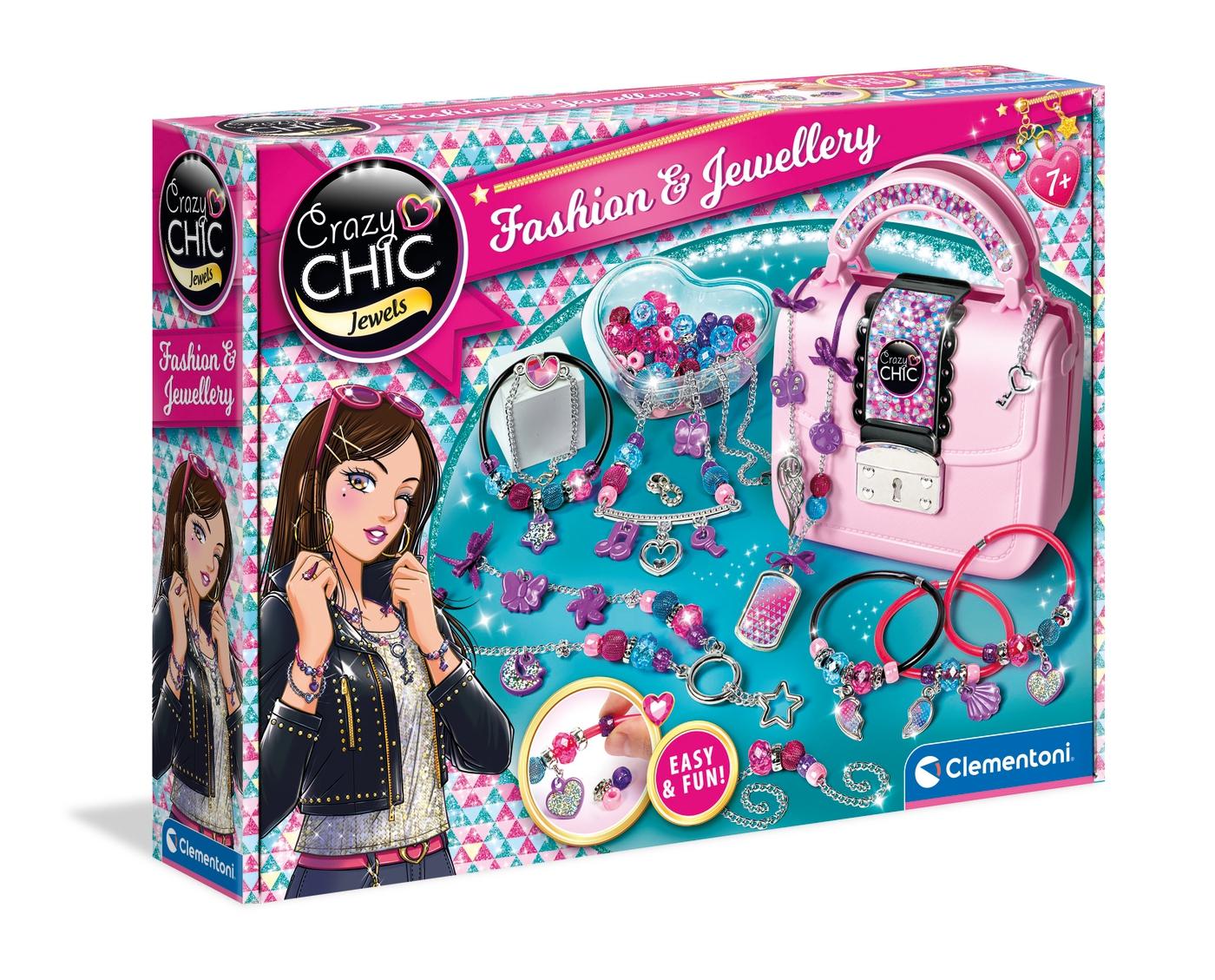 Set creatie bijuterii cu poseta Crazy Chic Jewlery and Fashion imagine hippoland.ro