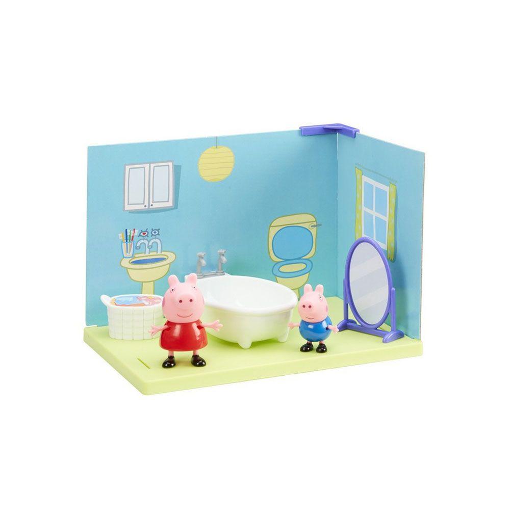 Set cu mobila si 2 figurine Peppa Pig imagine hippoland.ro