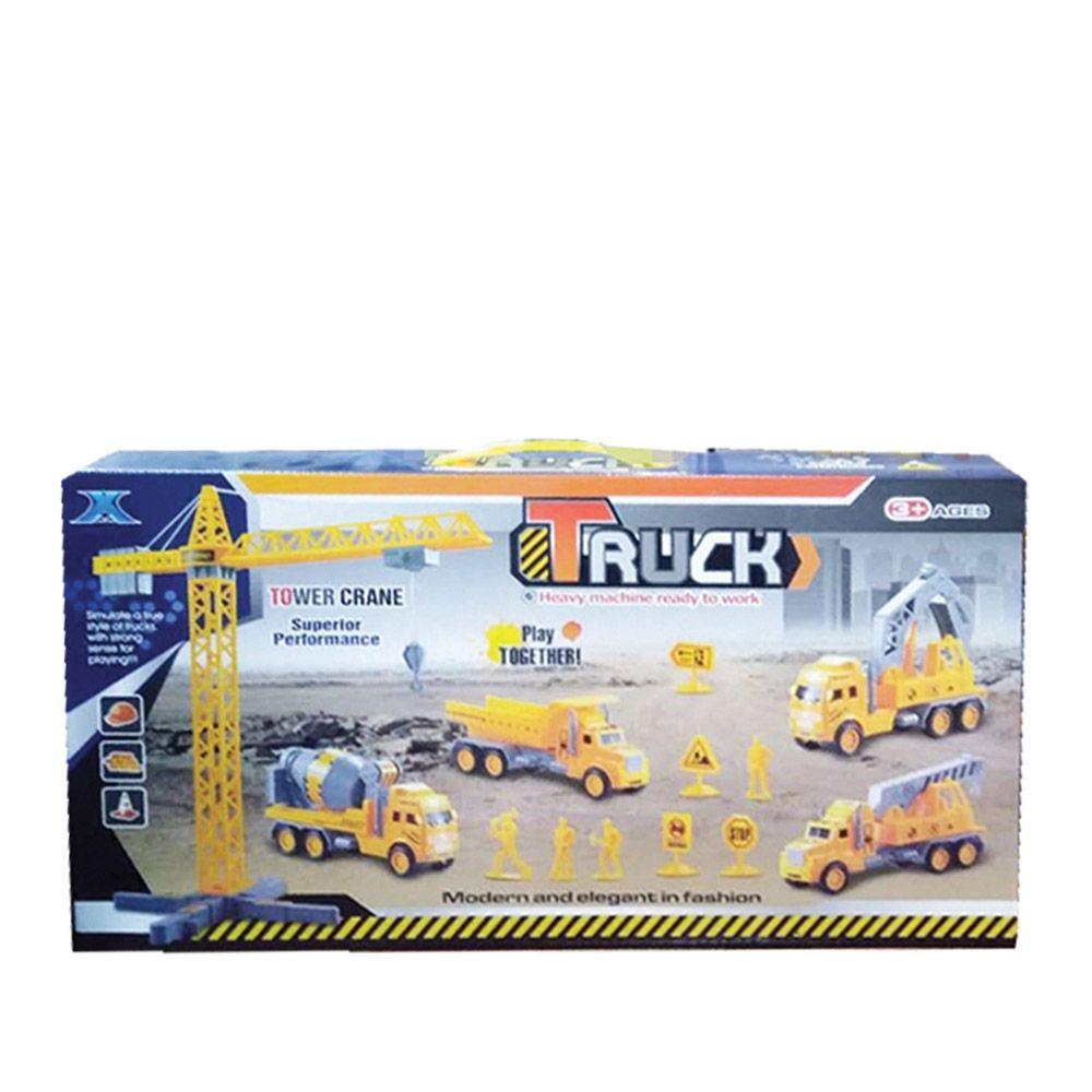 Set de constructie cu camion cu macara Ocie imagine hippoland.ro