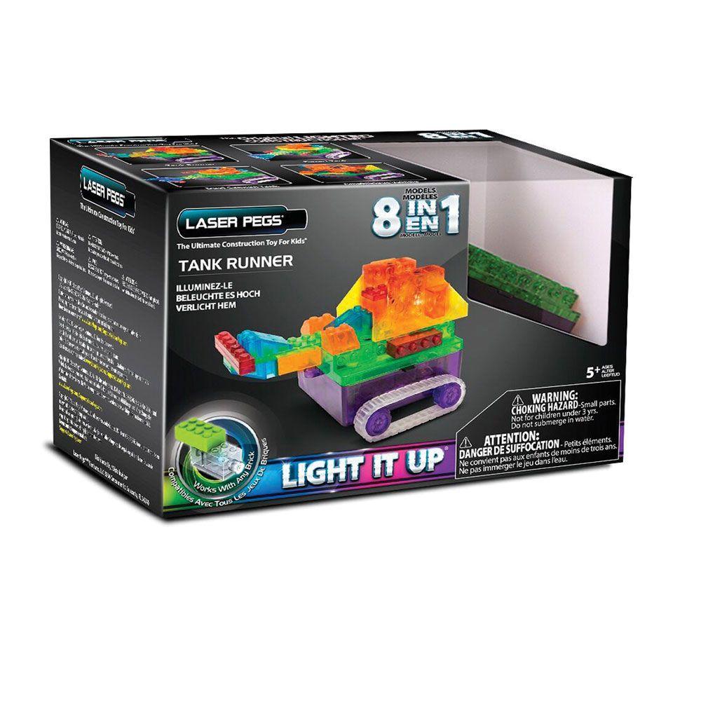 Set de constructie Laser Pegs 8 in 1 Tanc