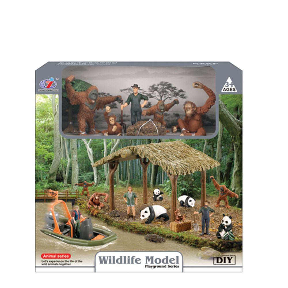 Set de joaca adapost cu animale salbatice Animal Series imagine hippoland.ro