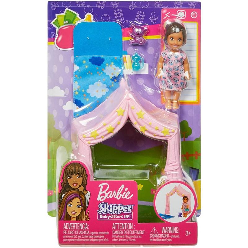 Set de joaca cu carucior Barbie Family Babysitters