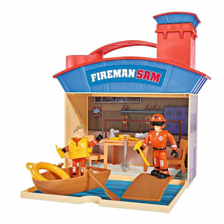 Set de joaca cu doua figurine Simba Sam Pompierul Ocean Rescue imagine hippoland.ro