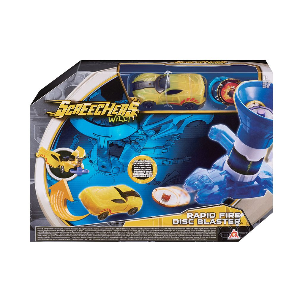 Set de joaca cu masinuta Screechers Wild Launchers imagine hippoland.ro