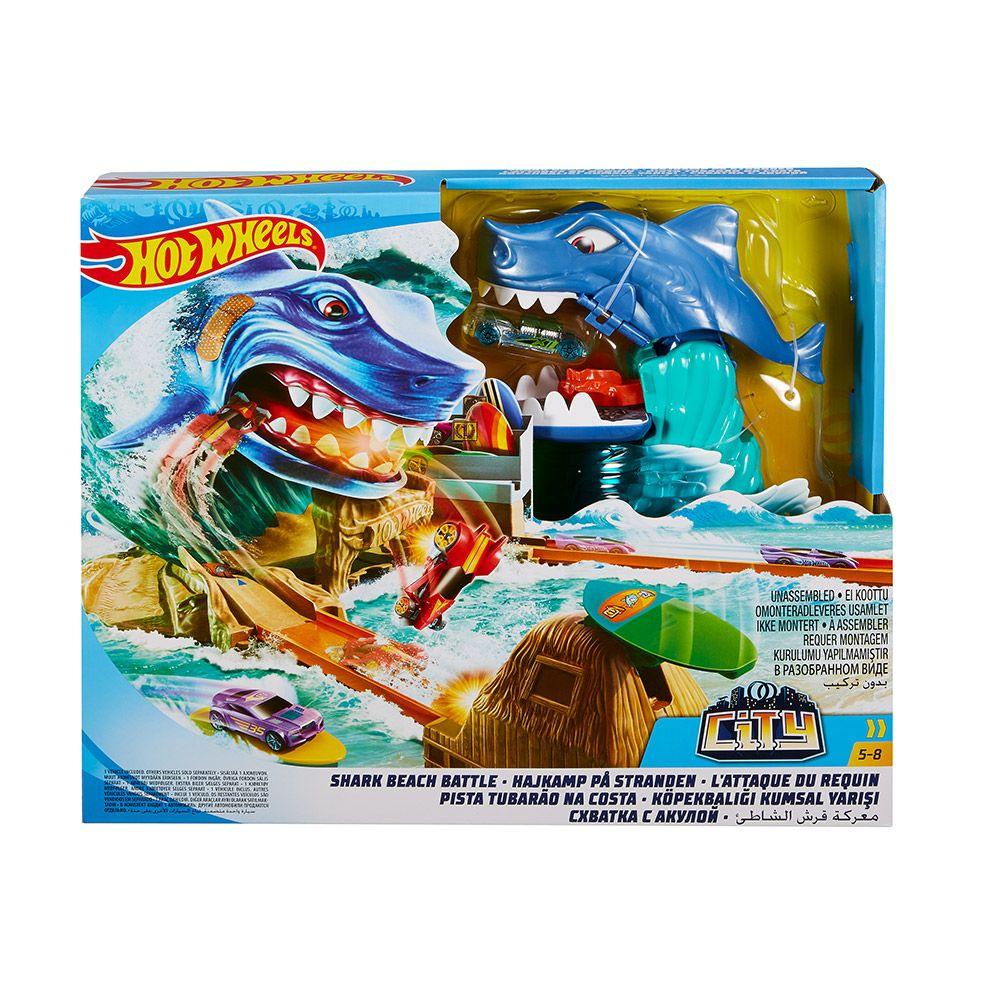 Set de joaca Hot Wheels City Shark Beach Battle imagine hippoland.ro