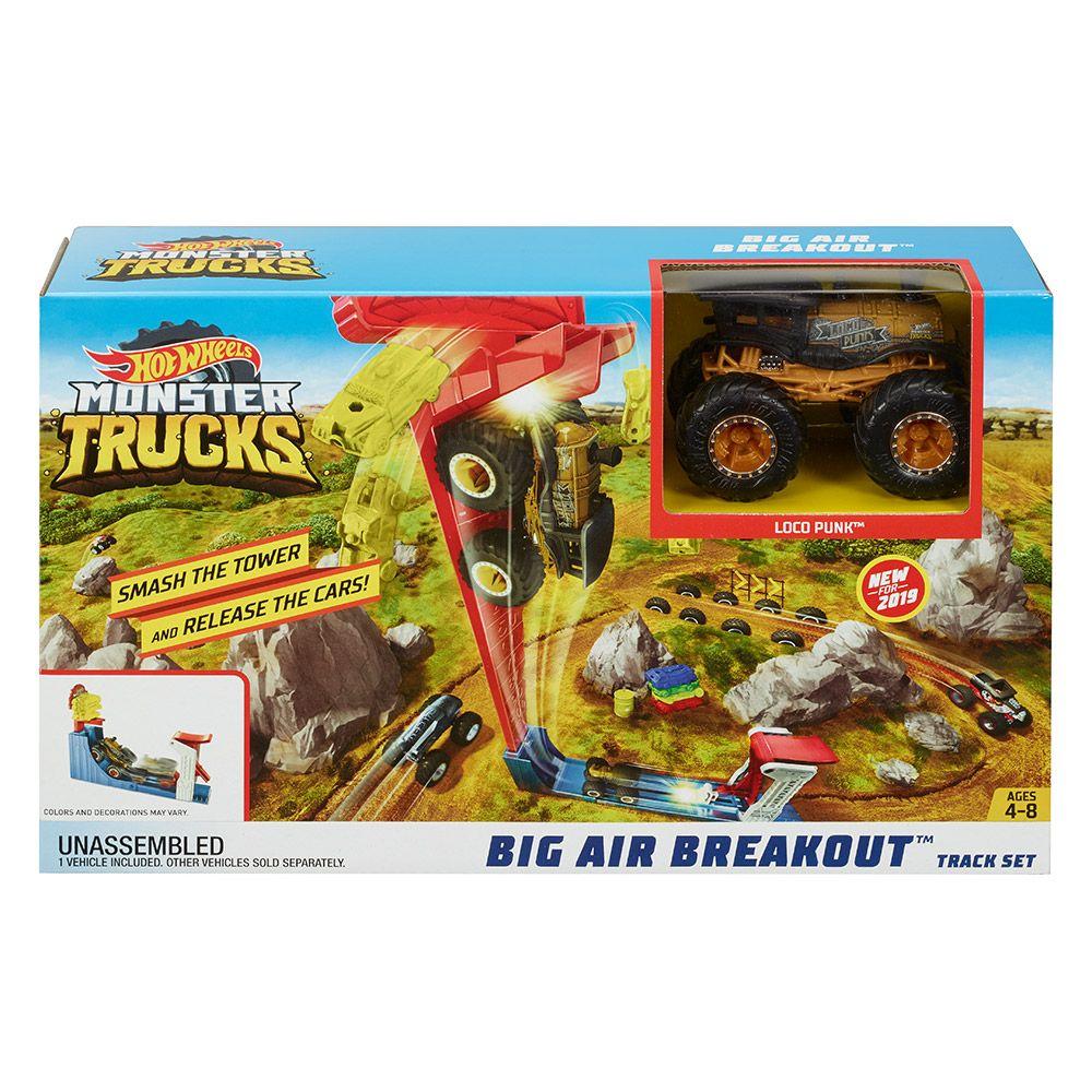 Set de joaca Hot Wheels Monster Trucks Big Air Breakout imagine hippoland.ro