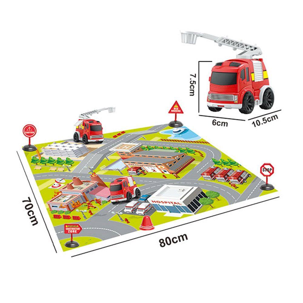 Set de joaca Ocie Urban Transport cu accesorii si covoras imagine hippoland.ro