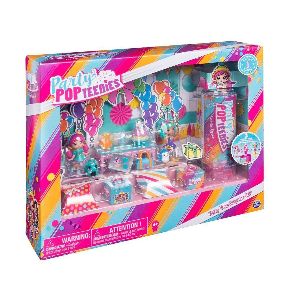Set de joaca Party Pop Teenies Party Time Surprise Set imagine hippoland.ro