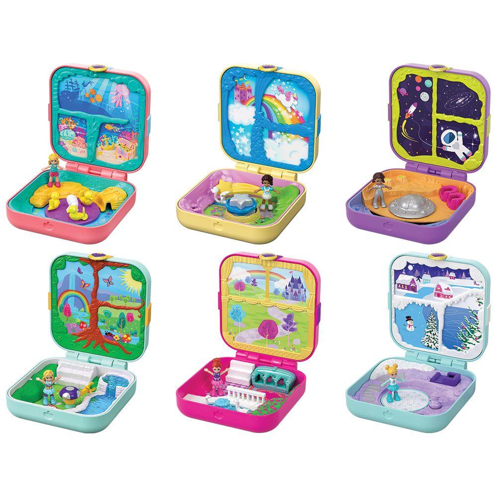 Set de joaca Polly Pocket Compact Hidden Hideouts imagine hippoland.ro