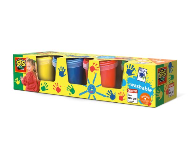 Set de pictura cu degetele Ses Creative 4 culori imagine hippoland.ro