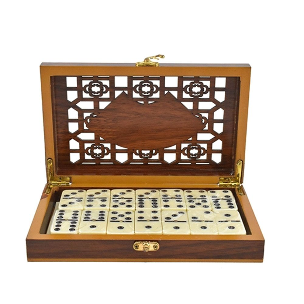 Set domino in cutiuta de lemn imagine hippoland.ro
