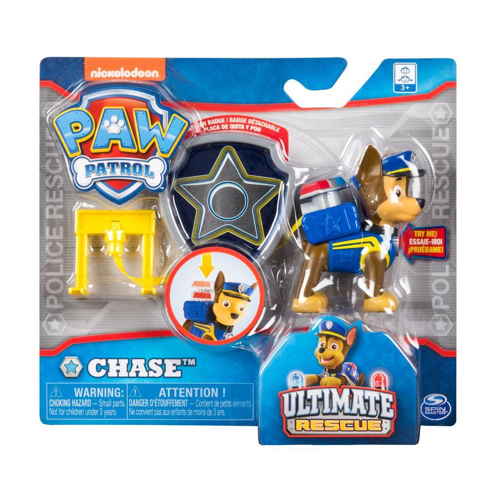 Set figurina si insigna Paw Patrol Ultimate Rescue imagine hippoland.ro