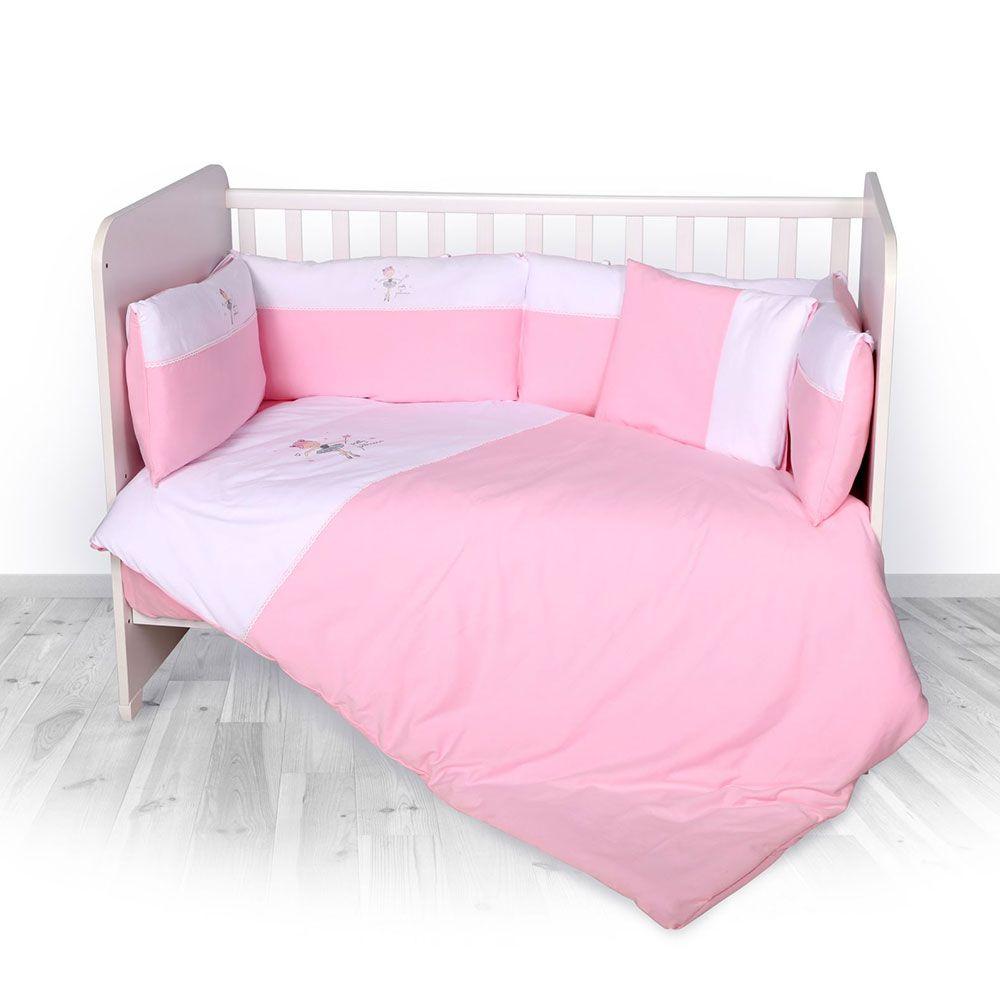 Set lenjerie Lorelli Jursey Za-Za 60 x 120 pink, 7 articole imagine hippoland.ro