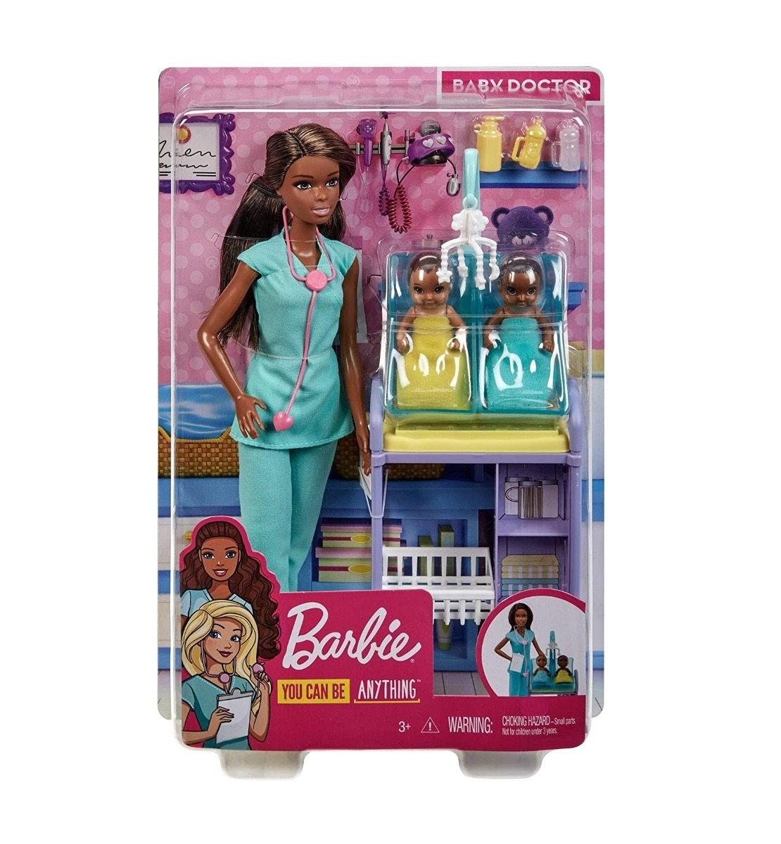 Set papusa cu accesorii Barbie Careers Doctor bebelusi imagine hippoland.ro