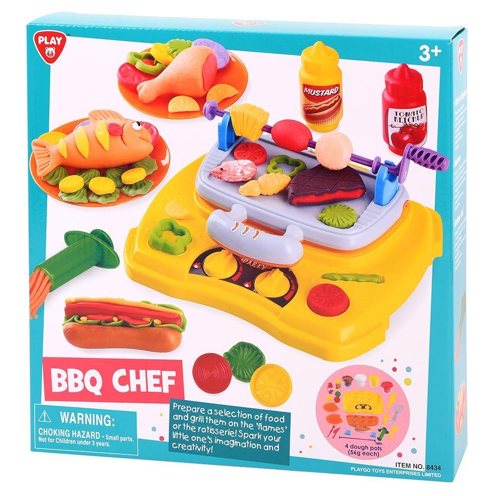 Set plastilina cu accesorii Play Go BBQ Chef imagine hippoland.ro