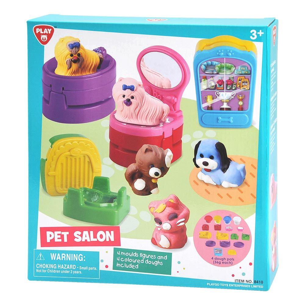 Set plastilina cu accesorii Play Go Pet Salon imagine hippoland.ro