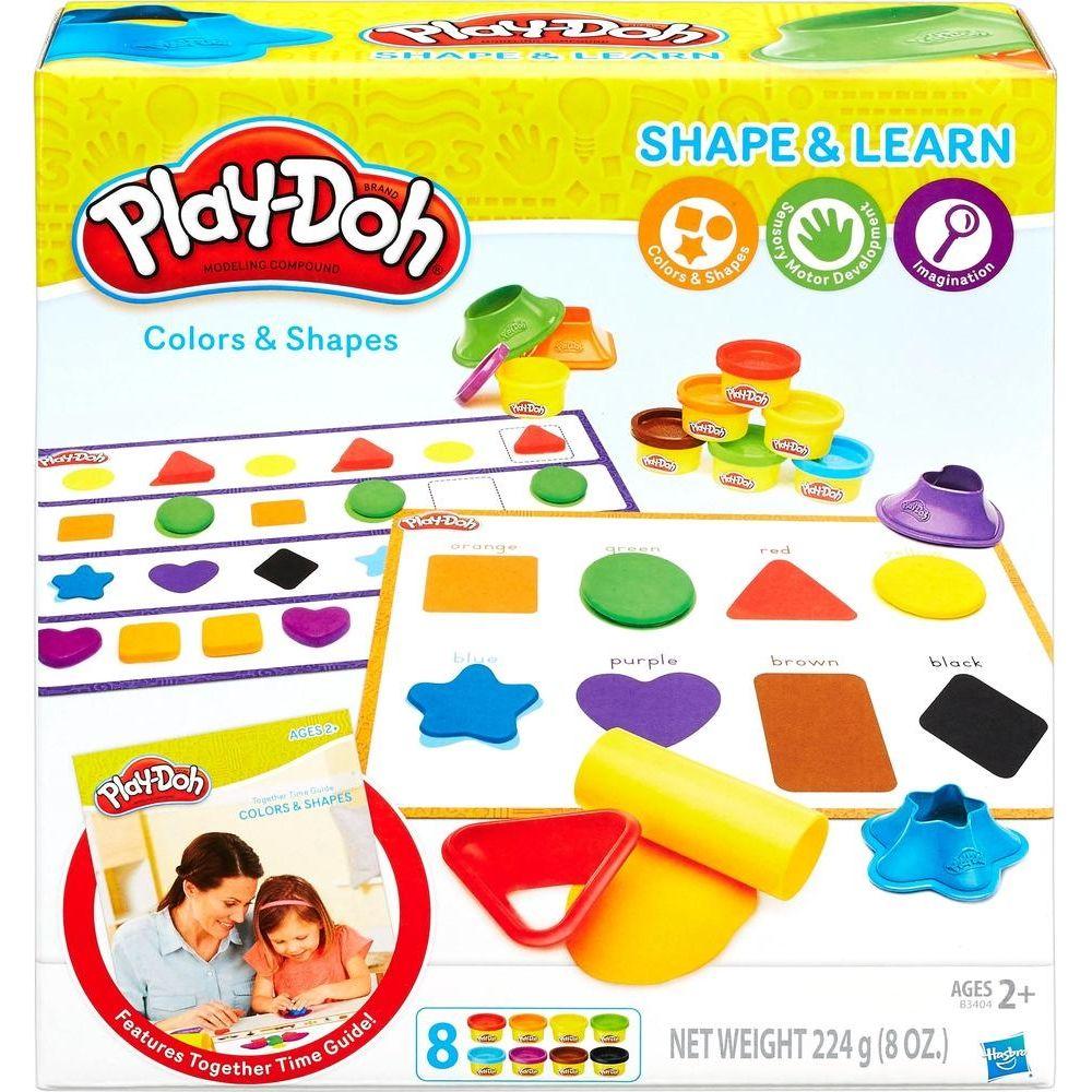 Set plastilina Hasbro Play-Doh culori si forme imagine hippoland.ro
