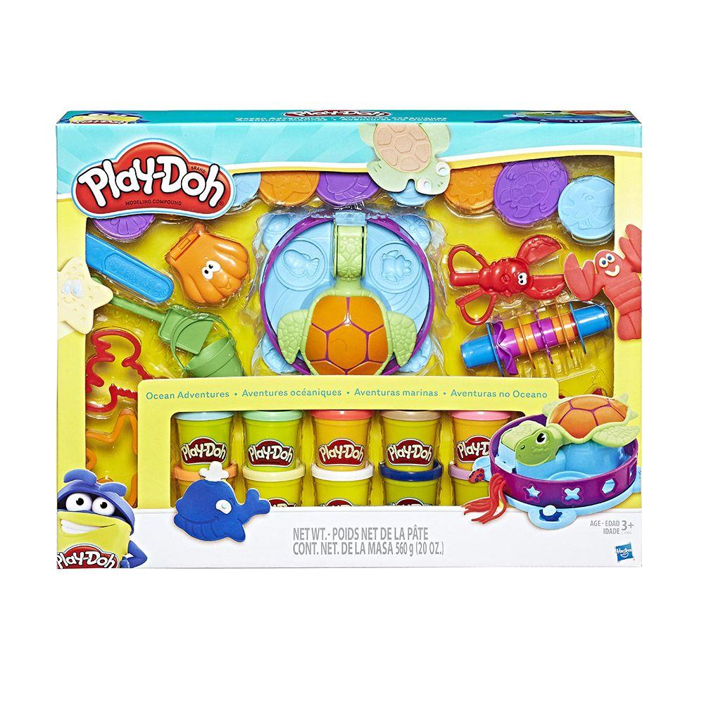 Set plastilina Hasbro Play-Doh Aventurile din Ocean imagine hippoland.ro