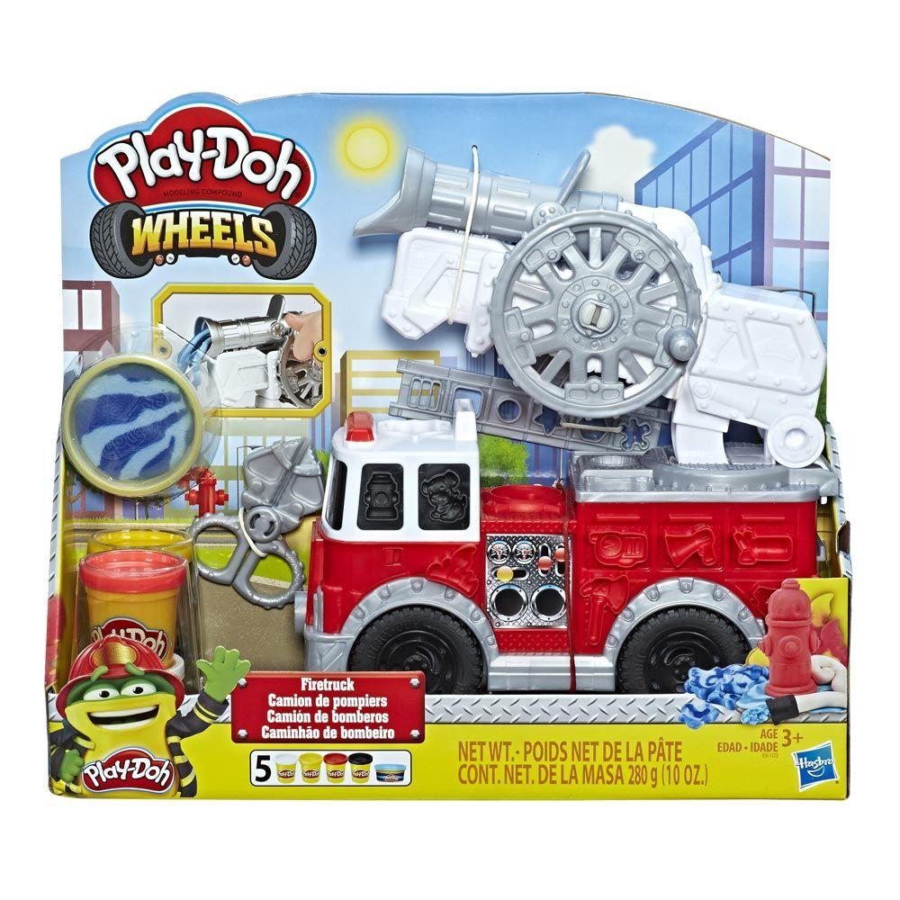 Set plastilina Hasbro Play Doh Wheels Firetruck imagine hippoland.ro