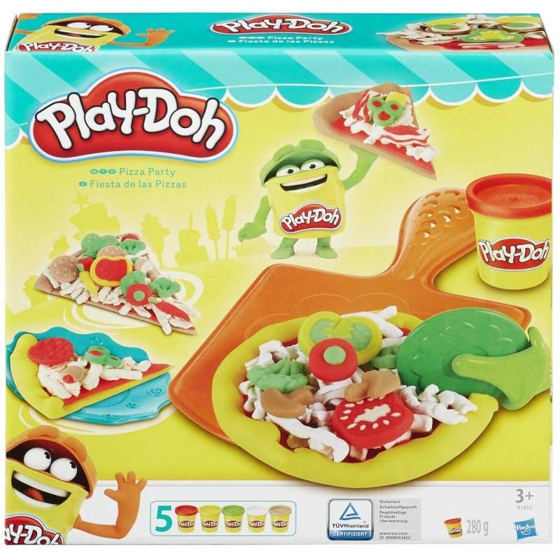 Set plastilina Play-Doh petrecere cu pizza imagine hippoland.ro