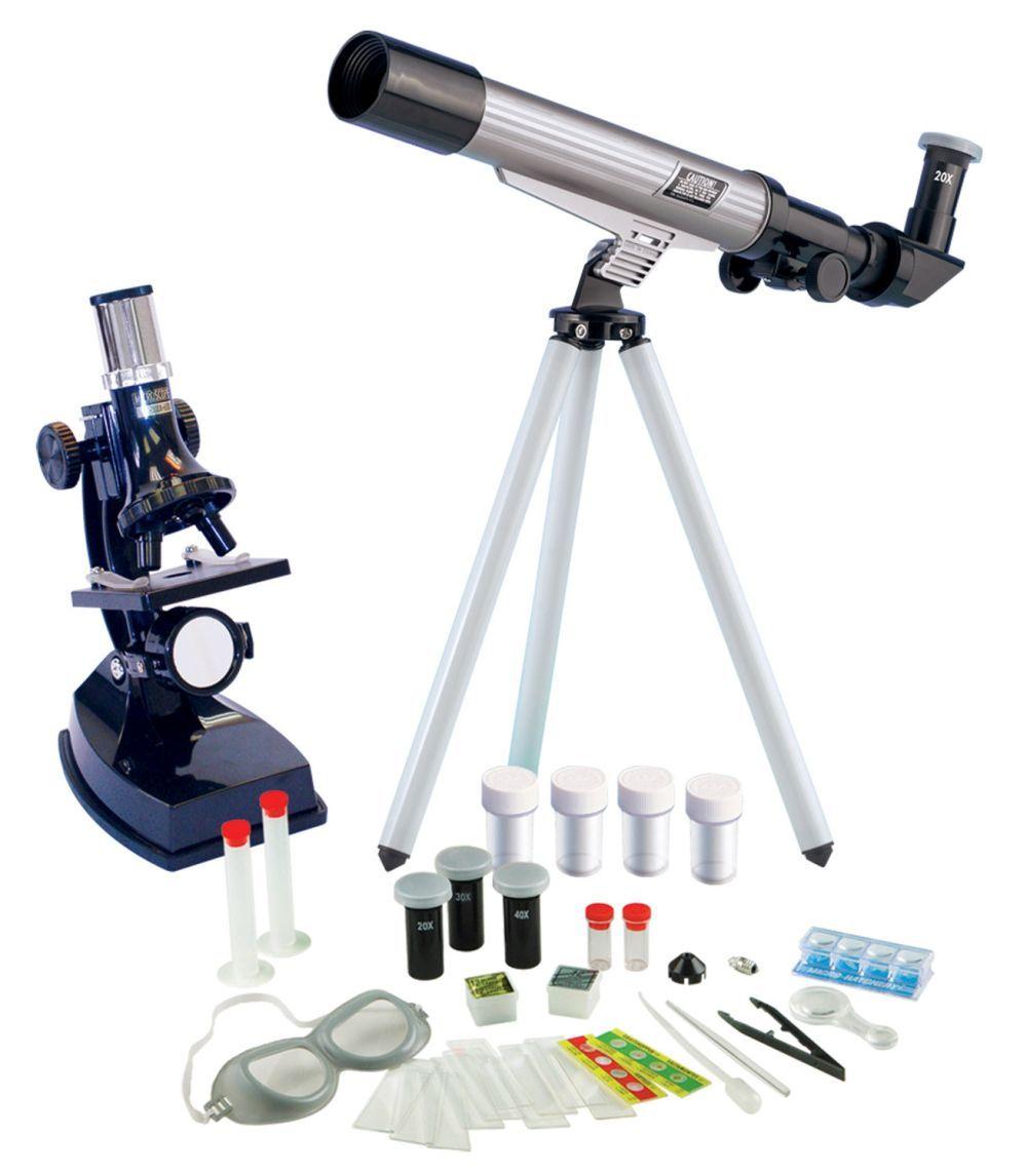 Set Telescop astronomic si microscop Edu Toys imagine hippoland.ro
