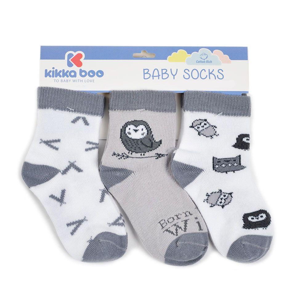 Sosete bumbac Kikka Baby 6-9 luni unisex imagine hippoland.ro