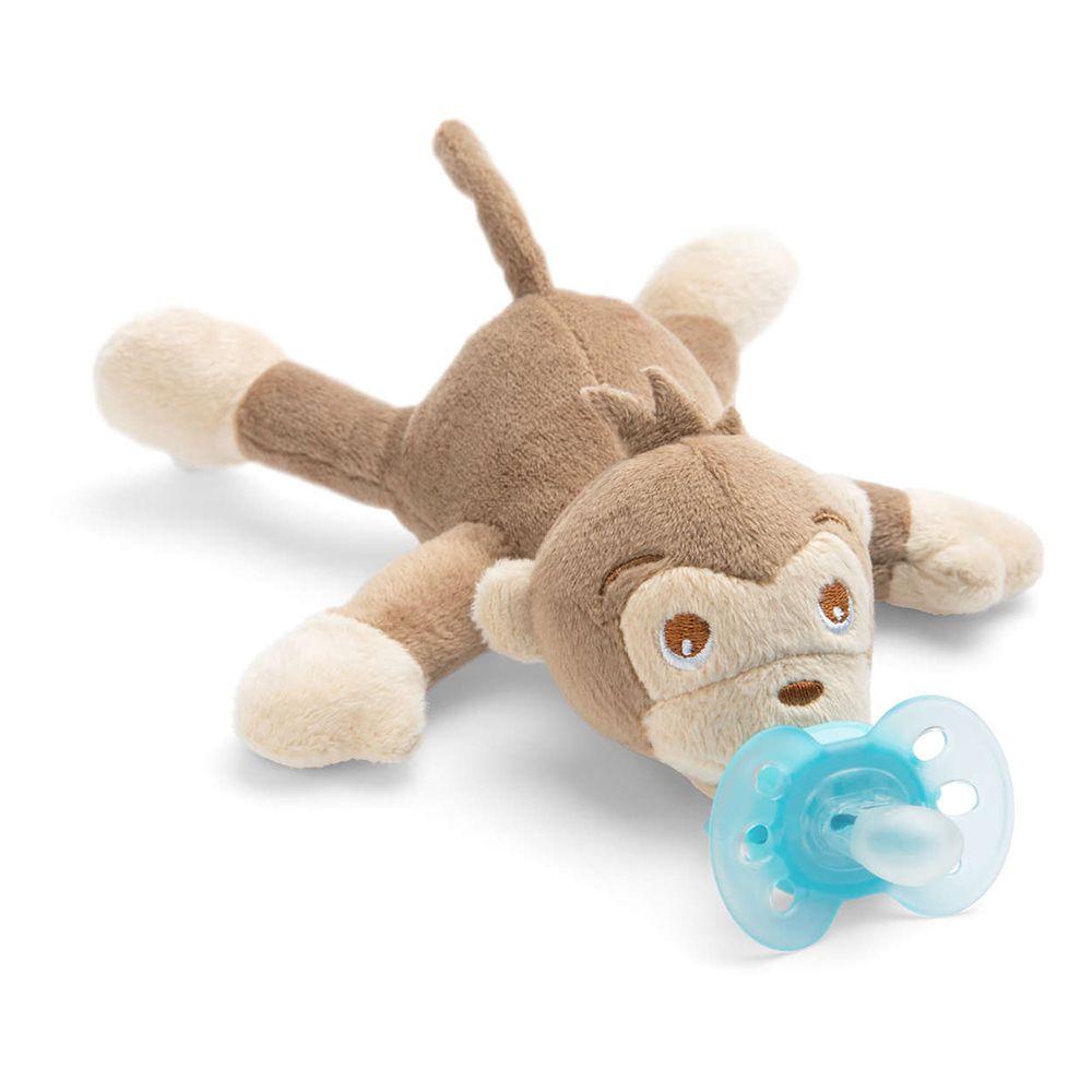 Suzeta cu jucarie Avent Ultra Soft 0-6 luni monkey imagine hippoland.ro