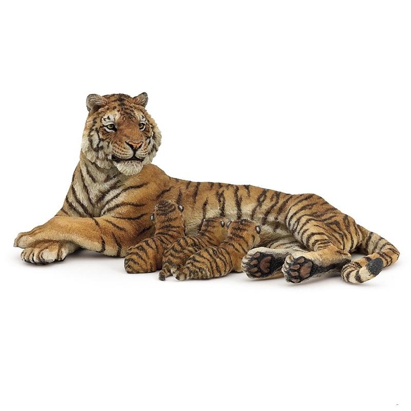 Tigru cu pui Papo imagine hippoland.ro