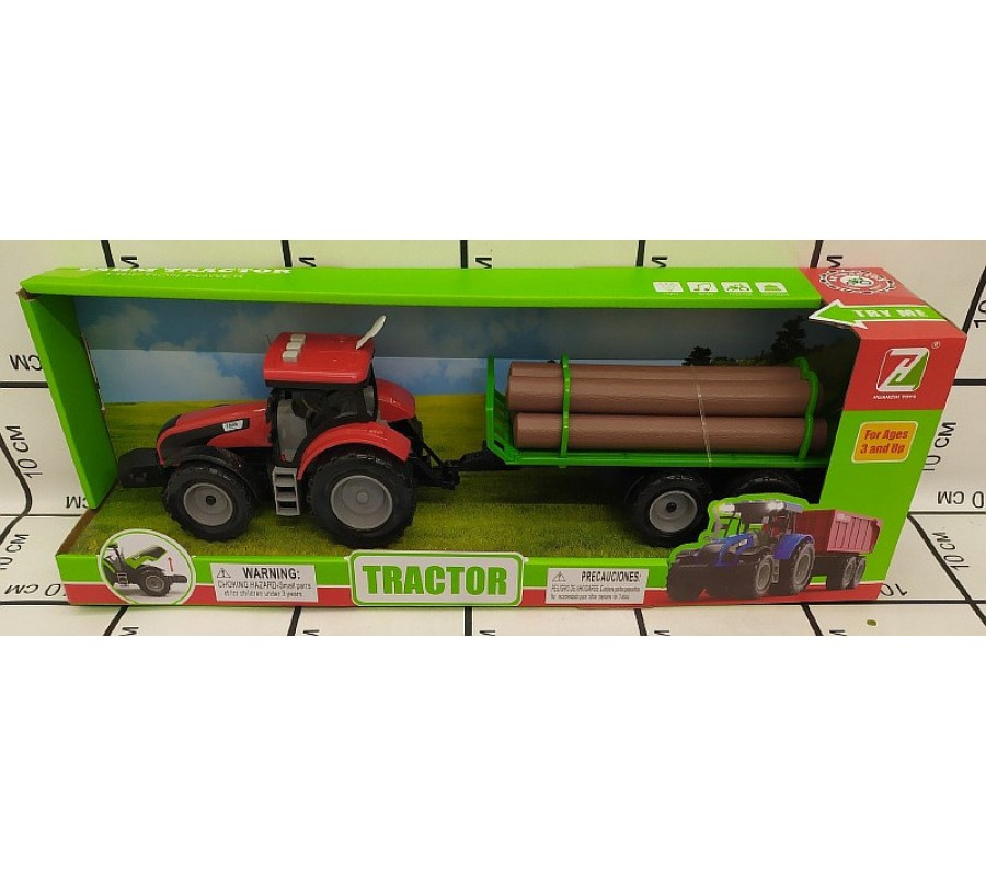 Tractor cu remorca imagine hippoland.ro