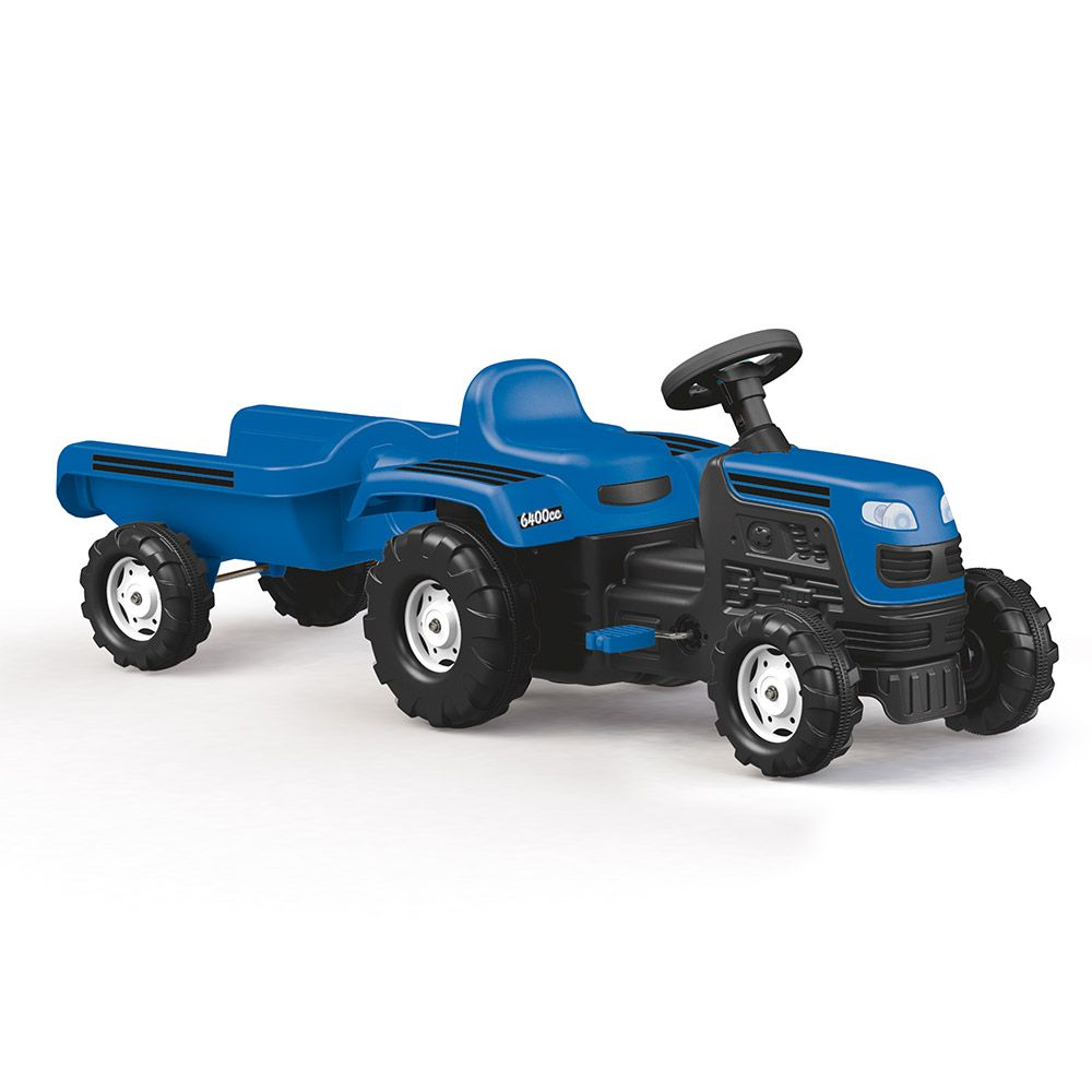 Tractor cu remorca si pedale Dolu imagine hippoland.ro