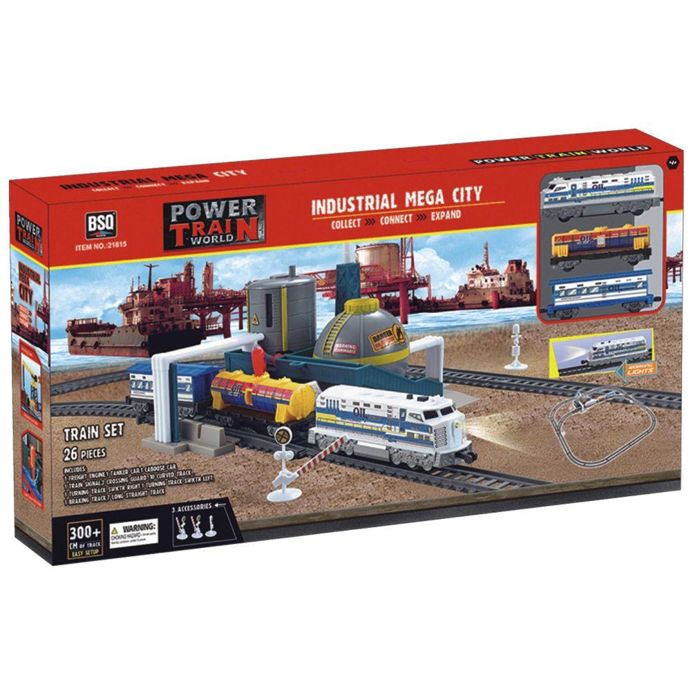 Tren de marfa cu sine si rafinarie de petrol Power Train imagine hippoland.ro