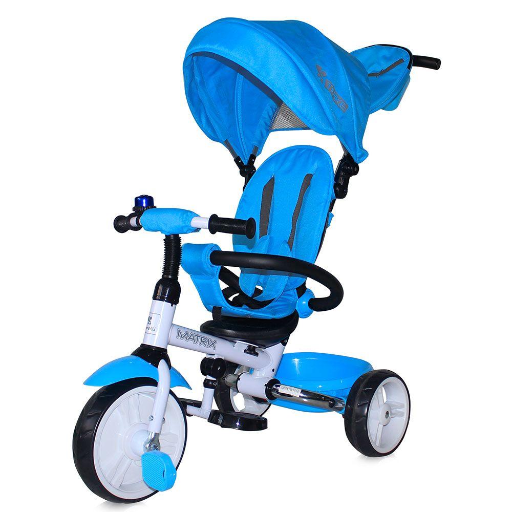 Tricicleta cu parasolar Lorelli Matrix light blue imagine hippoland.ro