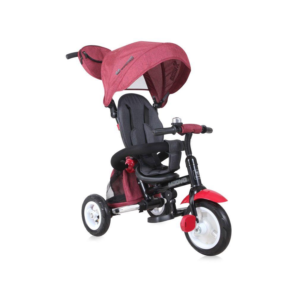 Tricicleta cu parasolar Lorelli Moovo Air Red Black imagine hippoland.ro