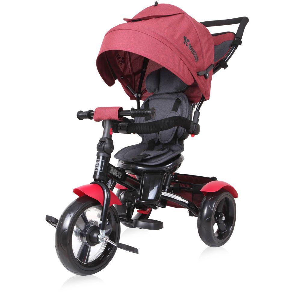 Tricicleta cu parasolar Lorelli Neo 2020 Red Black Luxe imagine hippoland.ro