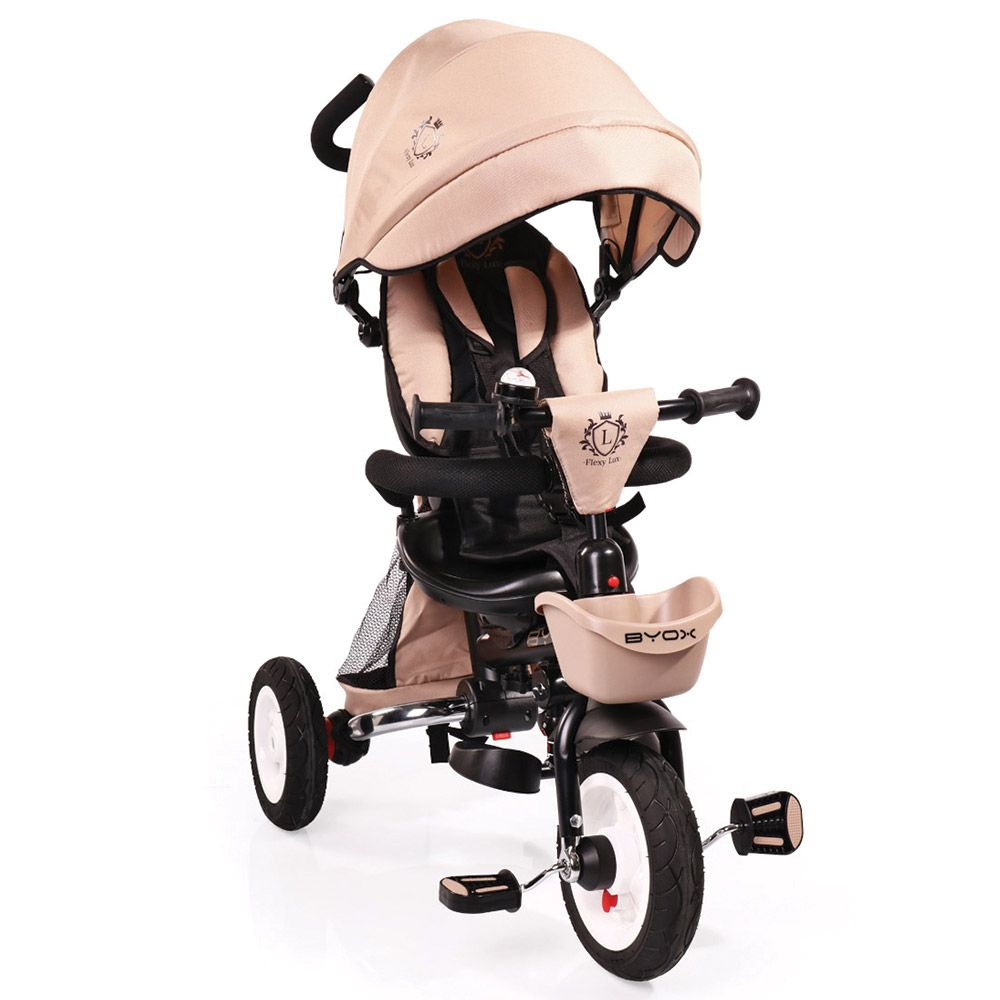 Tricicleta Moni Flexy Lux Beige imagine hippoland.ro