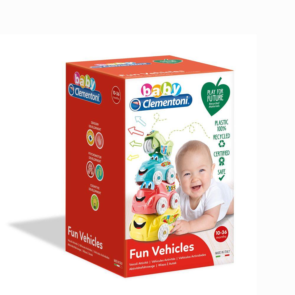 Turn cu masinute Clementoni Baby Fun Vehicles imagine hippoland.ro