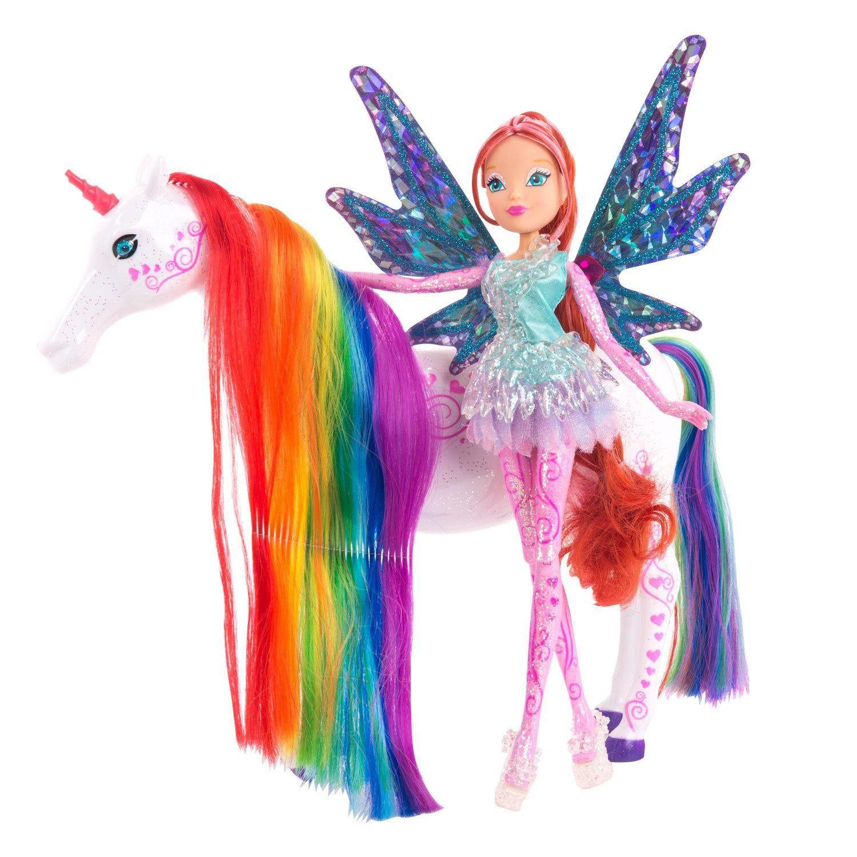 Papusa cu unicorn Winx Tynix Bloom and Elas imagine hippoland.ro